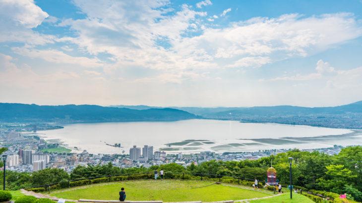 「君の名は」のロケ地?長野県の諏訪湖「立石公園」に行ってきた