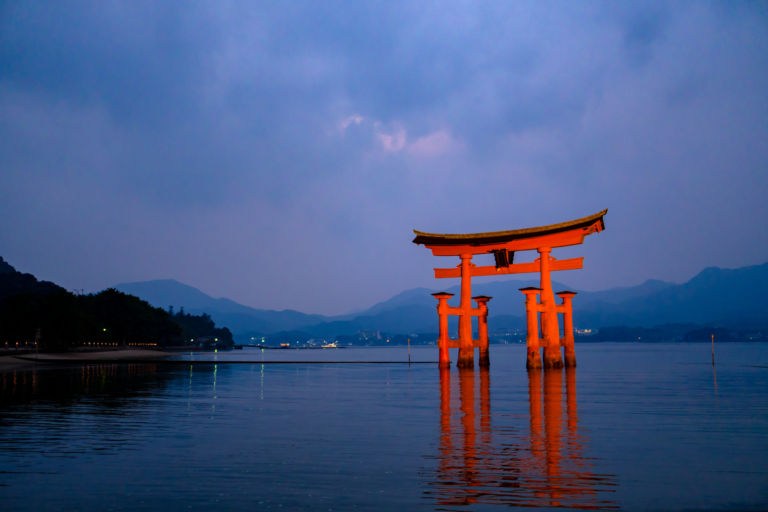 Floating tori of Miyajima island