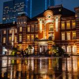 SONY α6500とSEL24F18Zで雨の東京駅の夜景を撮影